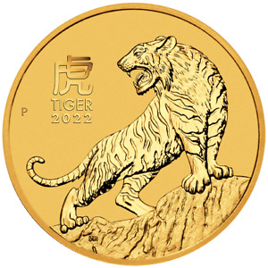 2022 Year of the Tiger 1/10oz .9999 Gold Bullion Coin – Lunar Series III - PM