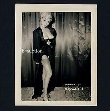 Busty rubio Donna Brown en Underwear Lingerie ropa interior * vintage 60s us photo