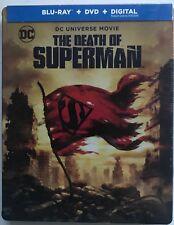 NEW DC COMICS THE DEATH OF SUPERMAN BLURAY DVD 2 DISC TARGET EXCLUSIVE STEELBOOK