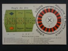 Roulette De Monte Carlo / Maniere de Poser la Mise - Old Postcard