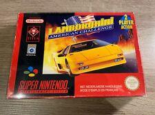 Lamborghini American Challenge SNES FAH Super Nintendo CIB complete in box