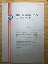The Aeronautical Quarterly (Royal Aeronautical Society Journal) RARE Nov 1977