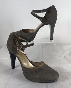 RUSSELL & BROMLEY Mocha Brown Suede Heels Shoes UK 6/39