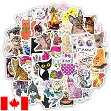 50 Cat themed vinyl stickers set glossy cartoon animals cats kitten cute kawaii