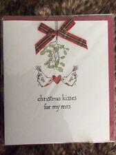 Christmas Kisses For My Mrs - Christmas Greeting Card