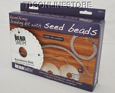 Kumihimo Starter Braiding Kit With Seed Beads