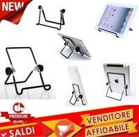 Supporto Stand cavalletto tablet iPad pieghevole regolabile metallo universale