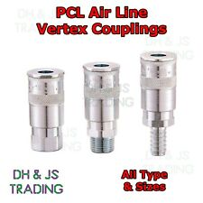 PCL Air Line Couplings Vertex - Male Female Hose Tailpiece 1/4 3/8 1/2 Adaptors
