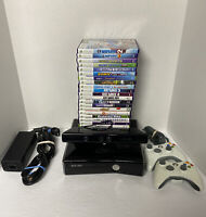 WOW! 250GB HD KINECT MEGA CONSOLE BUNDLE XBOX 360 S 22 GMS ALL KINECT COMPATIBLE