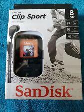 SDK008GA46K - SANDISK SDMX24-008G-A46K 8GB Clip Sport MP3 Player (Black) New