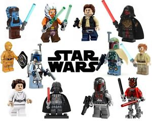 Star Wars Minifigures 100+ Mini Figures Characters Mandalorian Marvel Toys