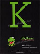 JIM HENSON PRODUCTIONS__Original 1993 Licensing Trade AD / promo__MUPPETS_KERMIT