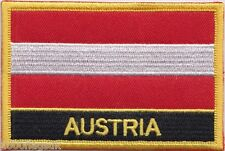 Austria Federal Flag Embroidered Patch Badge - Sew or Iron on