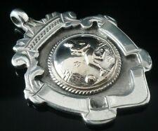 Silver Pocket Watch Fob Medal, FATTORINI 1922, Eccles United Football