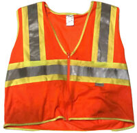 ULINE Safety Vest Size L/XL 3M Scotchline Reflective Zipper #B2