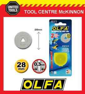 GENUINE OLFA RB28-2 2-PACK 28mm ROTARY CUTTER REPLACEMENT BLADES – MADE IN JAPAN