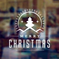 MERRY CHRISTMAS DECORATIVE WINDOW ART WALL STICKER DECAL XMAS SHOP HOUSE DECO