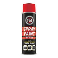 Spray Paint Red - 1 X 300ml 151 Gloss Aerosol Cars Metal Wood Brick