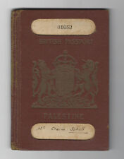 JUDAICA BRITISH PALESTINE PASSPORT FOR FAMILY 1937