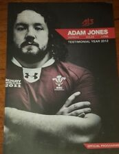 HAND SIGNED BY ADAM JONES  - WITH COA  WALES British LIONS Harlequins