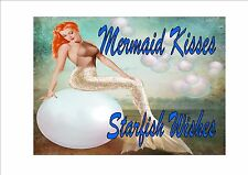 Mermaid Metal Sign Seaside Plaque Beach Mermaid  Picture Vintage Style Sign