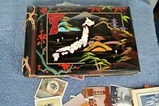 Vintage Korean Photo Album w/ 60s 70s USA small Picture lot See Pics in Listing