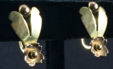 1940's 14K Rose and Yellow Gold Tiffany Earrings