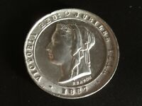 1887 Queen Victoria Golden Jubilee White Medal by Heaton Mint 32mm BHM-3248 NICE