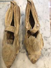 Antique Ladies Silk Dress Shoes
