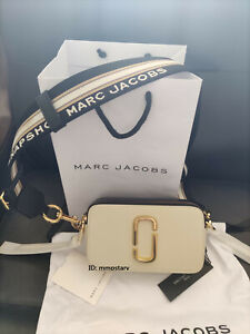 HOT Brand MARC JACOBS Snapshot Small Camera Bag NEW CLOUD WHITE MULTI bag sales