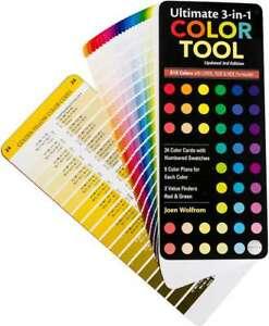 Ultimate 3-In-1 Color Tool 816 Colors W/CMYK, RGB & HEX Formulas 734817107927