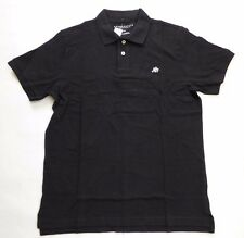 Aeropostale A87 Polo Short Sleeve Casual Shirt Size Large Black Solid RP $24.5