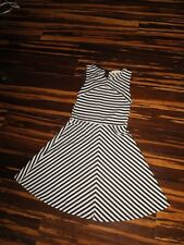Monteau Los Angeles Black And White Striped Dress Size S