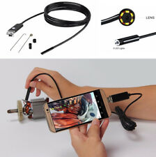 7MM 5M Vehicle Car Endoscope HD 2In 1 USB Camera 6Led Android Inspection Camera