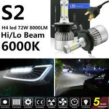 2 x H4 led 72W 8000LM S2 CREE Headlight Car Hi/Lo Beam Auto Bulbs 6500K White