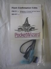 Pocket Wizard 802-451 PW-CC Miniphone, 3' Flash Confirmation Cable Multimax NEW