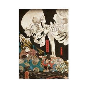 Japanese Ukiyo-e Wall Art Print Poster Woodblock Decor A3 Samurai Monster Yokai
