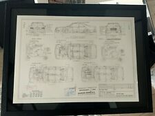 Limitierter ARTprint Mercedes C124 Coupe Konstruktionszeichnung