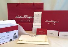 Salvatore Ferragamo Empty Shoe Box Tissue Paper Shopping Tote Dust Bag Receipt