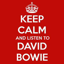 KEEP CALM AND LISTEN TO DAVID BOWIE - QUALITY SQUARE WOODEN COASTER