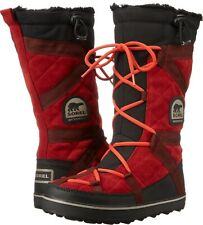SOREL Glacy Explorer Women 9 Red Dahlia Suede Tall Winter Snow Boots~NIB
