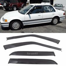 Fits 88-91 Hond Civic Slim Type Window Visors 4Pc