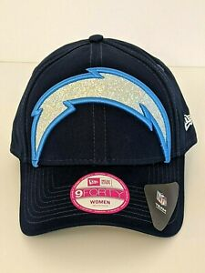 New NFL Los Angeles Chargers New Era 9Forty Glitter Glam Women's Adjustable Hat