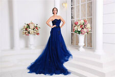 Luxury Royal Blue Wedding Dresses Bridal Gowns 2017 A Line Sweetheart Applique