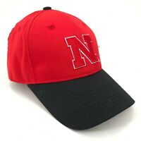 Nebraska Cornhuskers Outdoor Cap Curved Brim Strapback Red Black Large N Logo