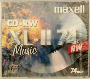 Maxell CD-RW74 / XL-II 74 CD-RW Audio Music CD RW RE-WRITABLE Blank Disc - NEW
