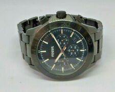 Mens Fossil Black Retro Traveller Chronograph Watch CH2895