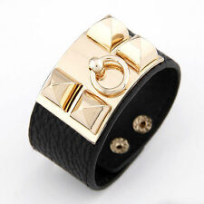 Leather Alloy Costume Bracelets without Stone