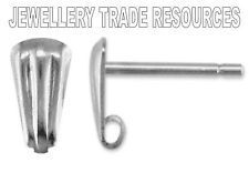 Sterling silver earring ear stud post compte-gouttes ring