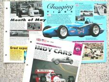 Old RACING CARS BROCHURES Collection: F1, INDY, LeMANS,Formula One 1